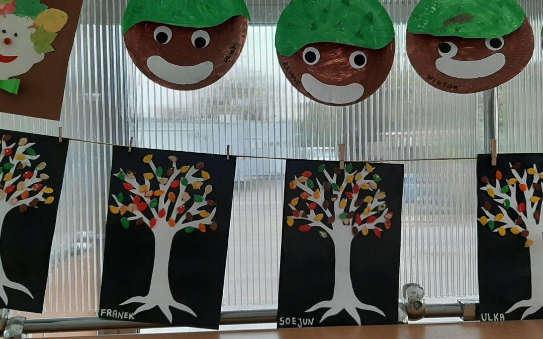 Praca plastyczna: jesienne drzewo ale… inne :)