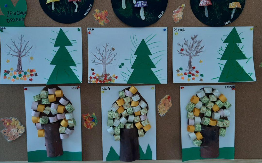 Praca plastyczna – Jesienne drzewa!
